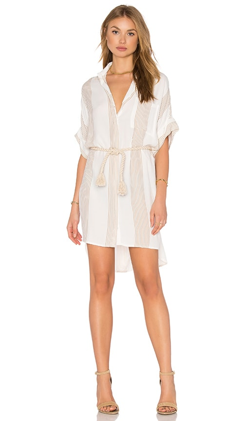 FAITHFULL THE BRAND Castaway Shirt Dress in White