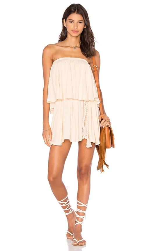 FAITHFULL THE BRAND Romy Dress in Plain Nude