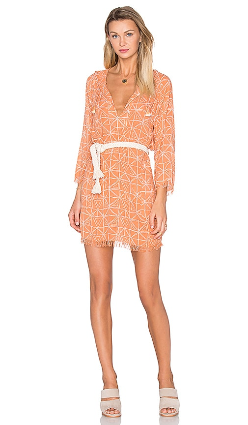 FAITHFULL THE BRAND Maison Dress in Peach