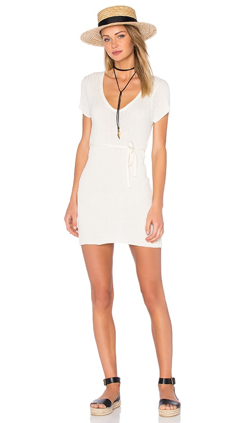 FAITHFULL THE BRAND Poppy Knit Dress in Ivory