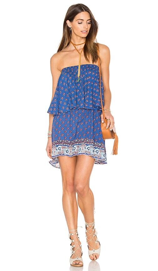 FAITHFULL THE BRAND Romy Dress in Blue