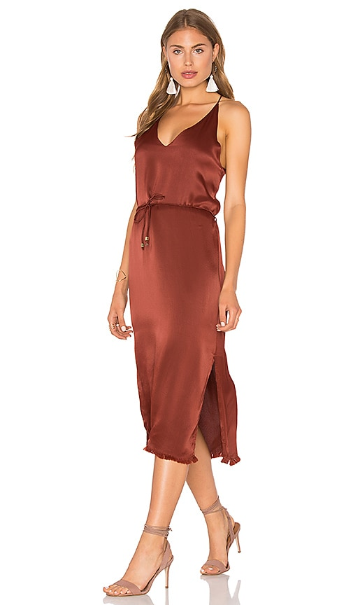 FAITHFULL THE BRAND East West Dress in Brown