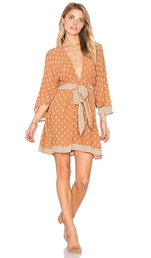 FAITHFULL THE BRAND Nova Dress in Brown