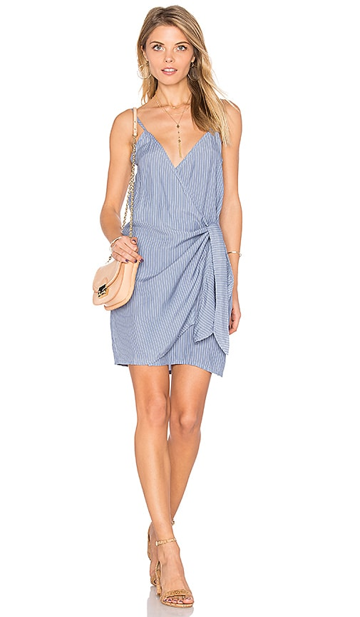FAITHFULL THE BRAND Kara Wrap Dress in Blue