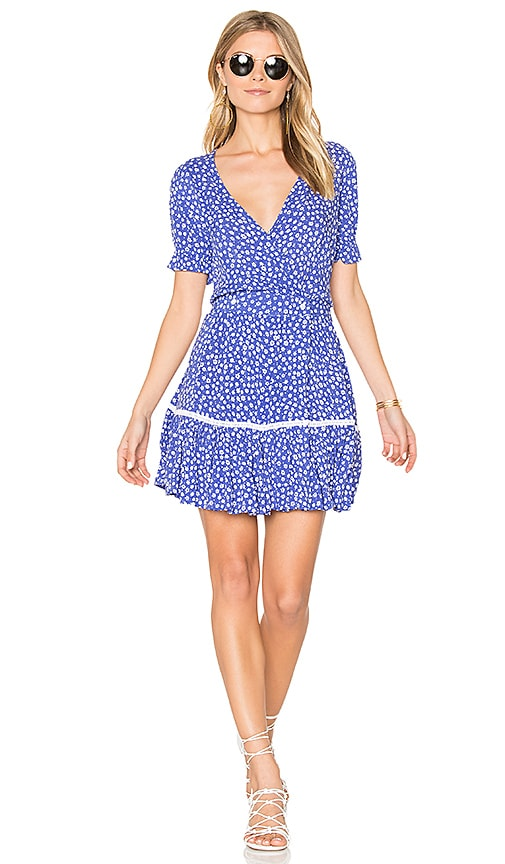 FAITHFULL THE BRAND Liza Dress in Blue