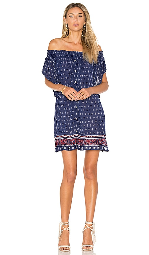 FAITHFULL THE BRAND Deia Dress in Navy