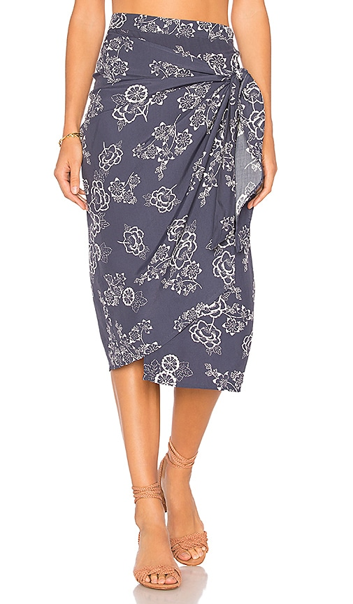 FAITHFULL THE BRAND Carlo Skirt in Navy