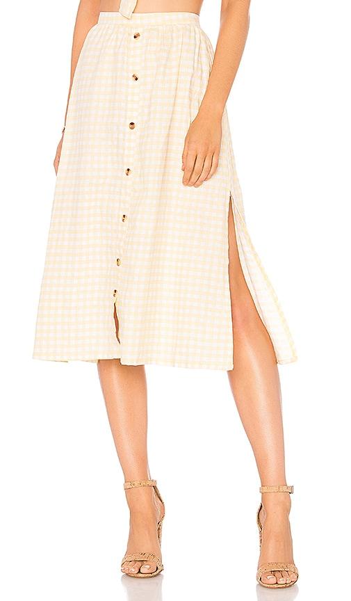 dc9dabfa38 FAITHFULL THE BRAND Seine Skirt in Kivotos Print Yellow | REVOLVE