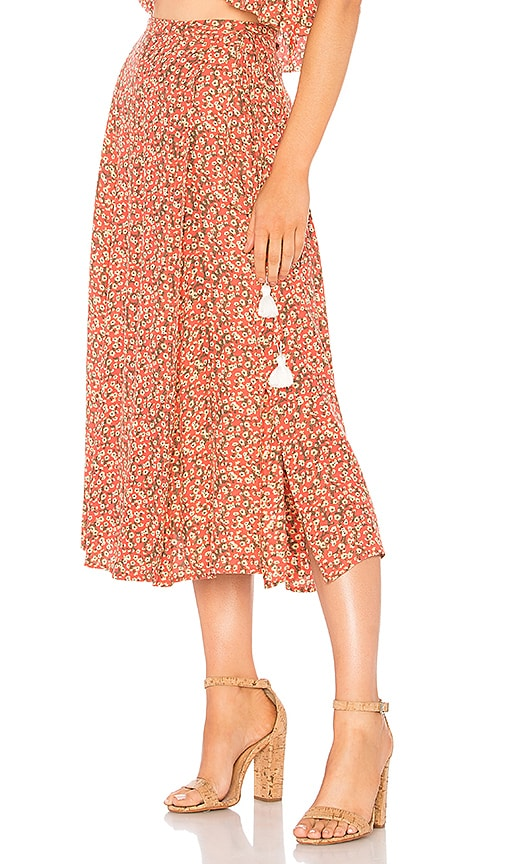 FAITHFULL THE BRAND Marieta Skirt in Pink