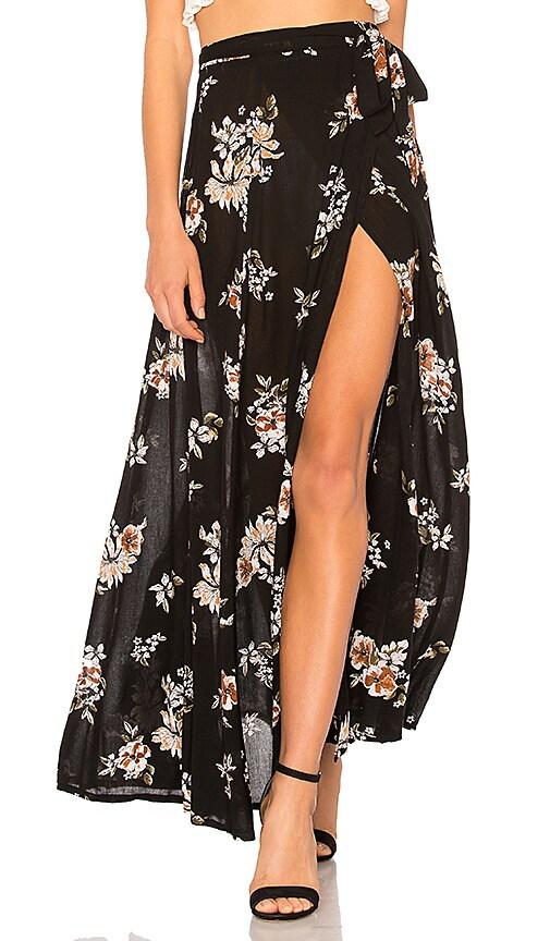 FAITHFULL THE BRAND Terviso Maxi Skirt in Black