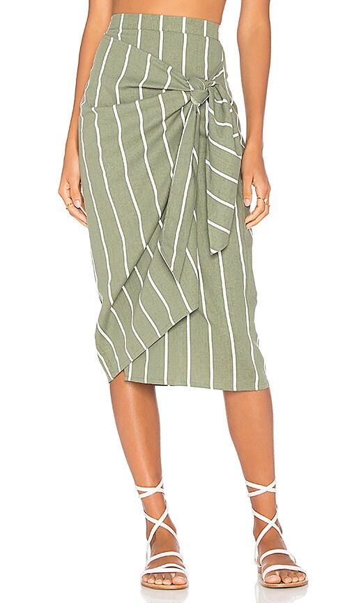 FAITHFULL THE BRAND Carlo Skirt in Green