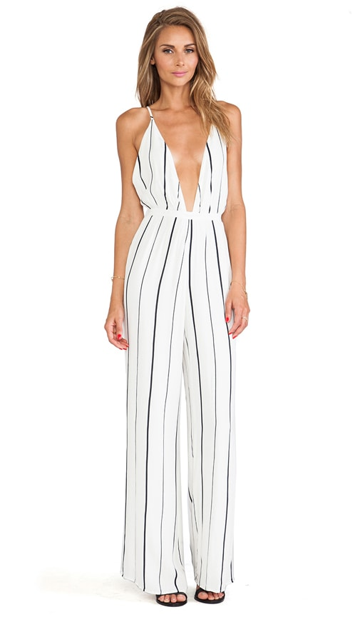 abaa58788c2 FAITHFULL THE BRAND Shutterbabe Jumpsuit in Helle Stripe Print