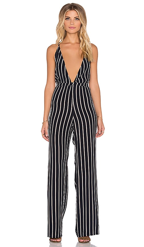 320fde1b2cc FAITHFULL THE BRAND Shutterbabe Tilbury Stripe Jumpsuit in Navy ...