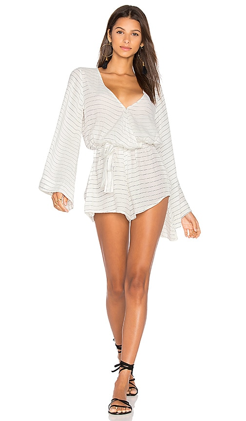 Long Bay Playsuit In Luca Stripe Print