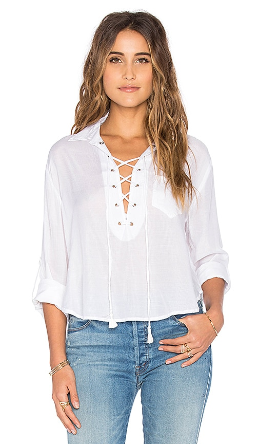 FAITHFULL THE BRAND Blake Top in Plain White