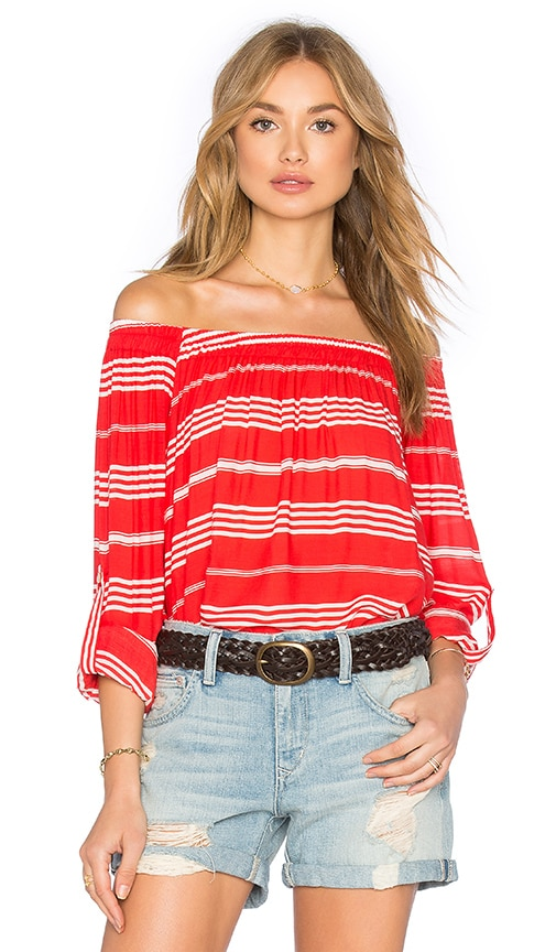FAITHFULL THE BRAND Devin Top in Red
