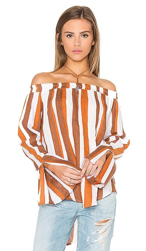 FAITHFULL THE BRAND Dream Top in Melrose Stripe Brown