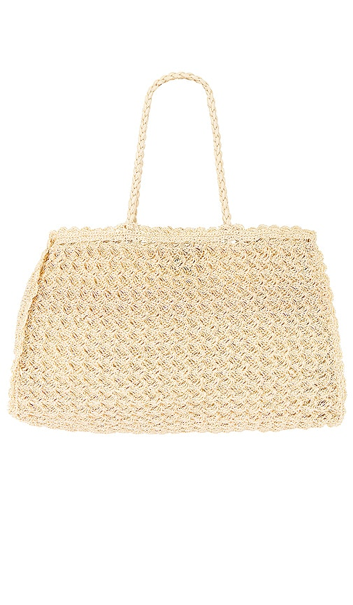 Faithfull The Brand Sullivan Crochet Bag In Cream