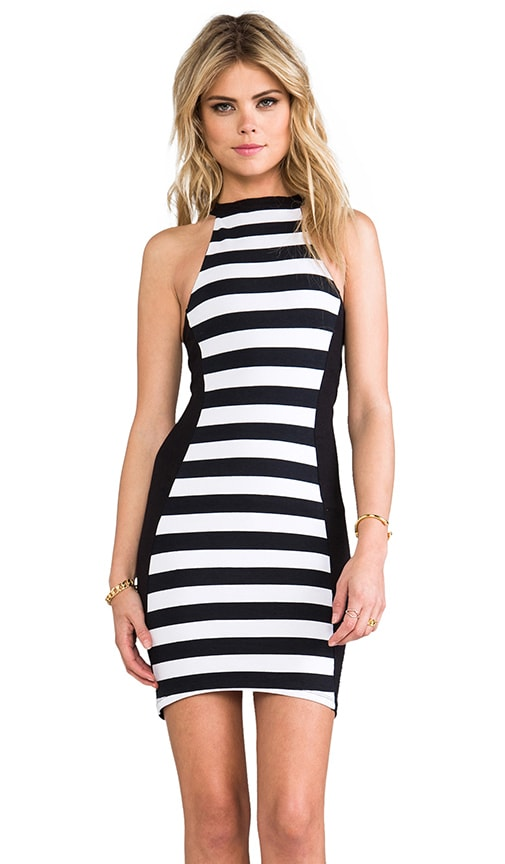 Stripe Scuba Dress