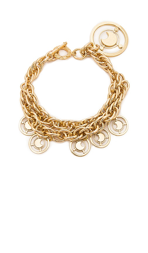 Fallon Prodigiam Medallion Bracelet in Metallic Gold