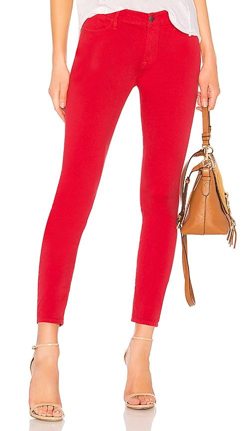 FRAME Le High Skinny Jean in Vintage Red