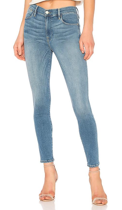 FRAME Le High Skinny Jean in Blue
