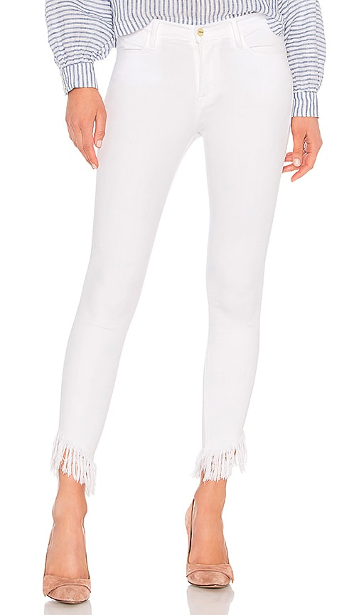 FRAME Le High Skinny Jean in Blanc