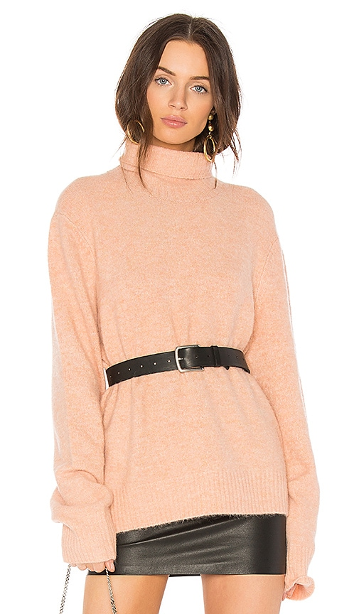 FRAME Slouchy Turtleneck Sweater in Pink