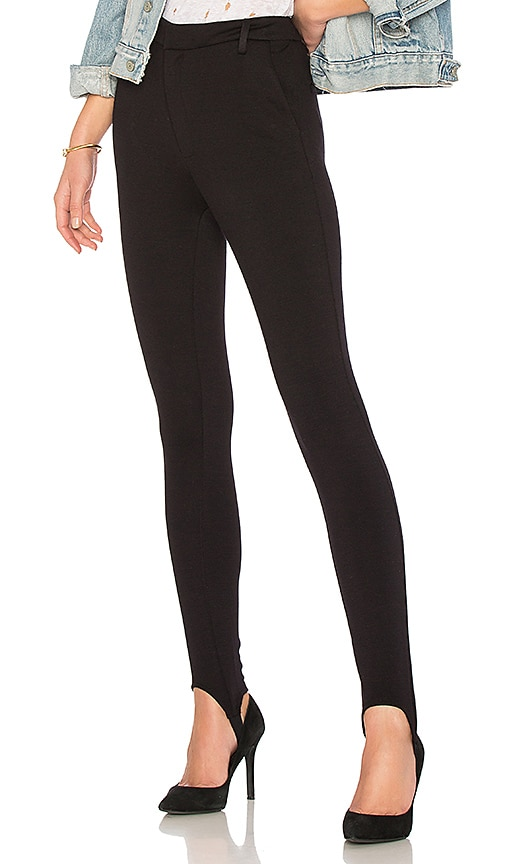 FRAME Ponte Stirrup Pant in Black
