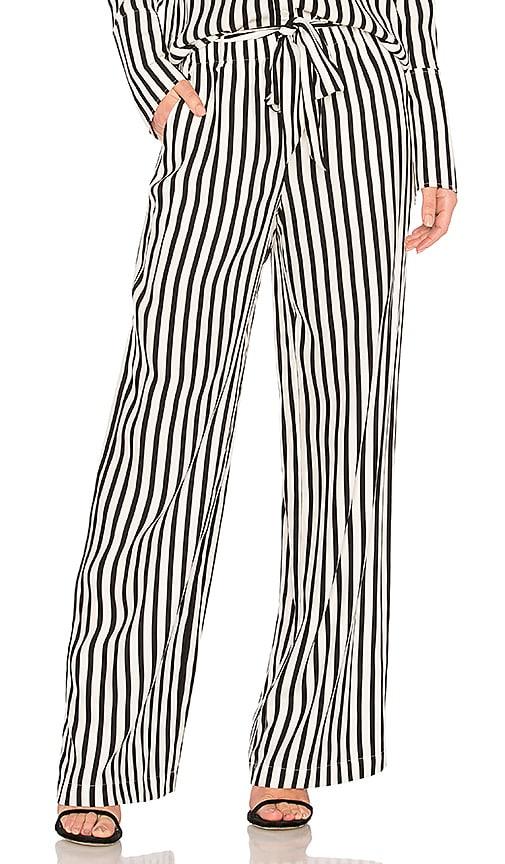FRAME Stripe Easy Pant in Black & White