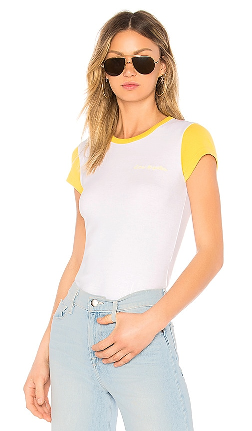 FRAME Colorblock Tee in White