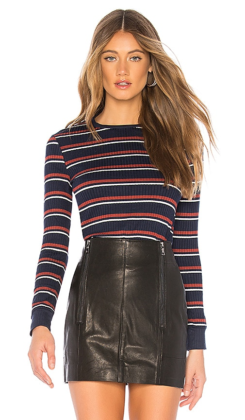 FRAME 70's Long Sleeve in Fall Navy Multi | REVOLVE