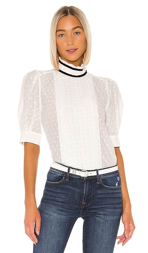 Contrast Trim Top