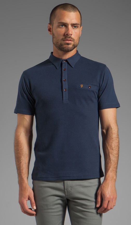 The Lester Textured Front Welt Pocket Polo