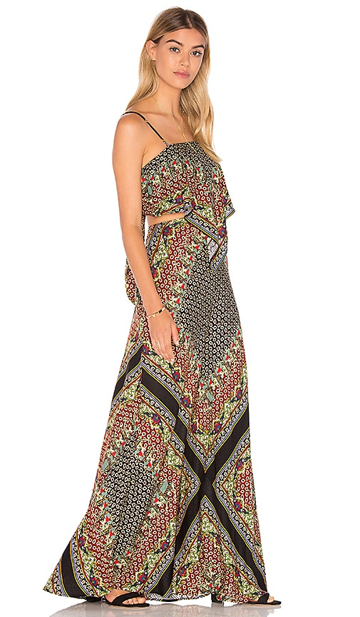 FARM Cutout Maxi Dress in Black