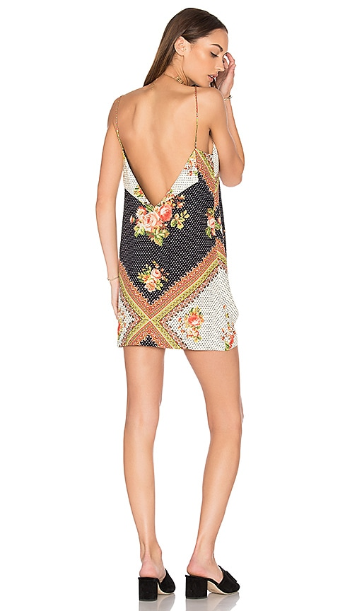 edc7e7bfa9a FARM Nami Mini Dress in Nami Floral Black