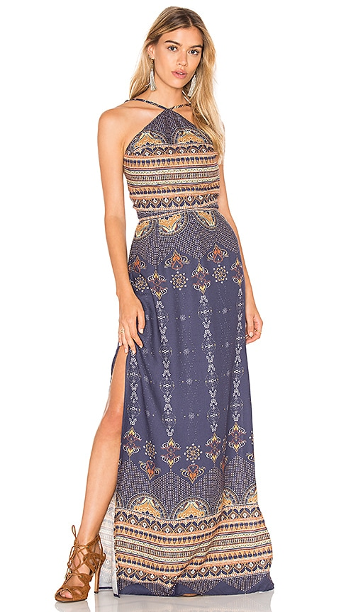 FARM Bangalora Maxi Dress in Navy
