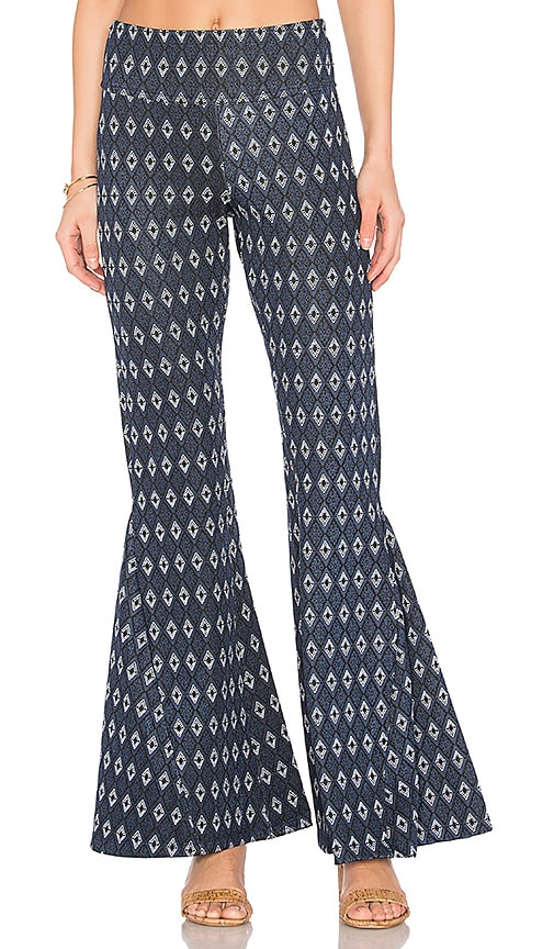 FARM Flare Pant in Blue