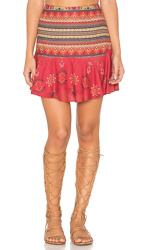 FARM Bangalora Skirt in Red