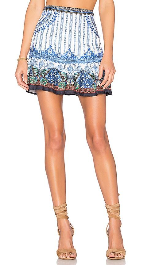 FARM Borboletario Mini Skirt in Blue