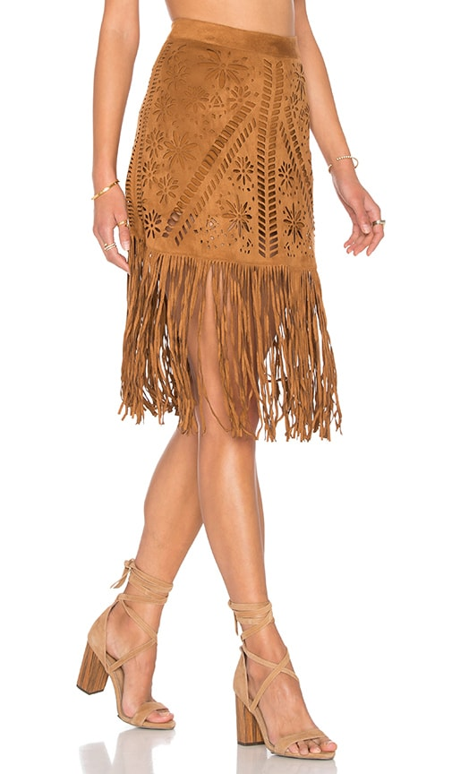 Fringe Laser Cut Skirt