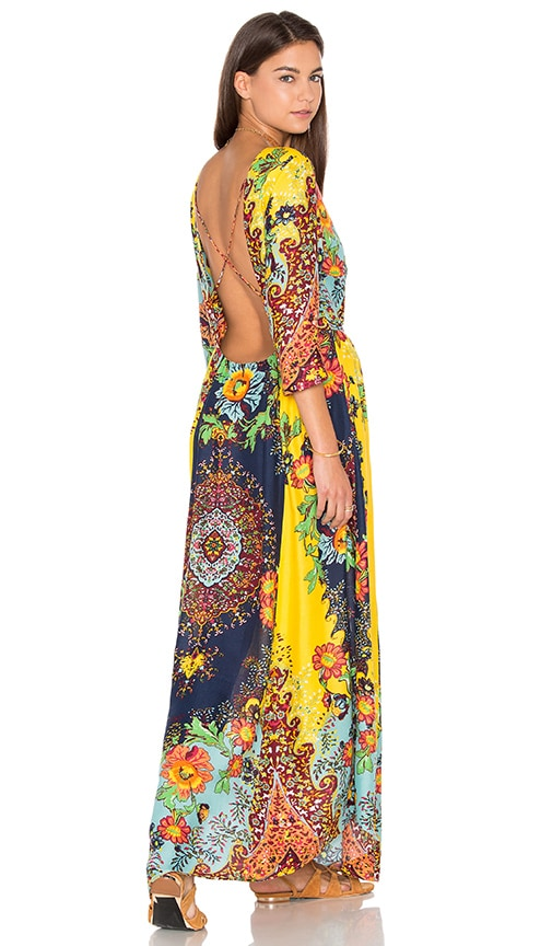FARM Maxi Dress in Yellow