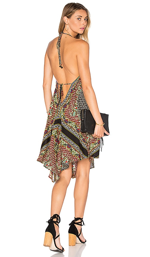 FARM Halter Dress in Brown