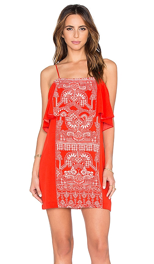 FARM Mini Dress in Red Print