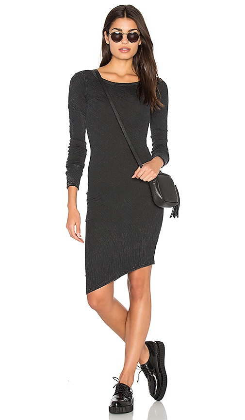 Fine by Superfine Snug Dress in Black