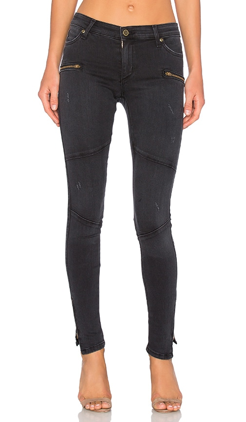 Fine by Superfine Rebel Skinny Jean in Black Ghost