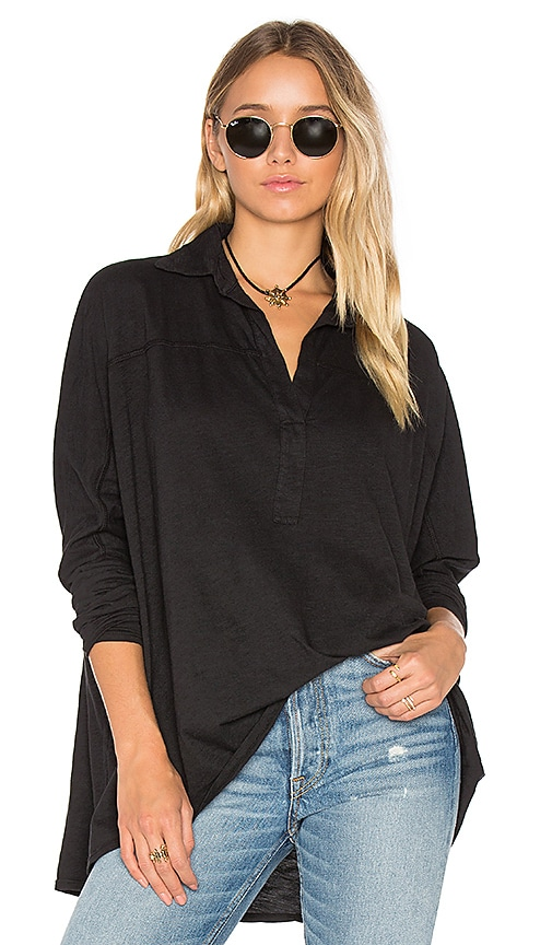 Fine by Superfine Square Shirt in Black