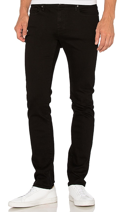 FRAME Denim L'Homme Skinny in Noir