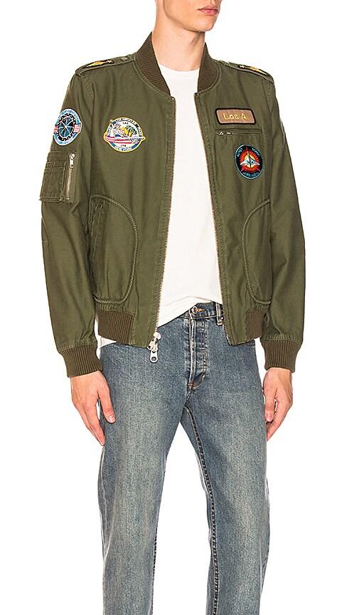 FRAME Denim Test Pilot Jacket in Army