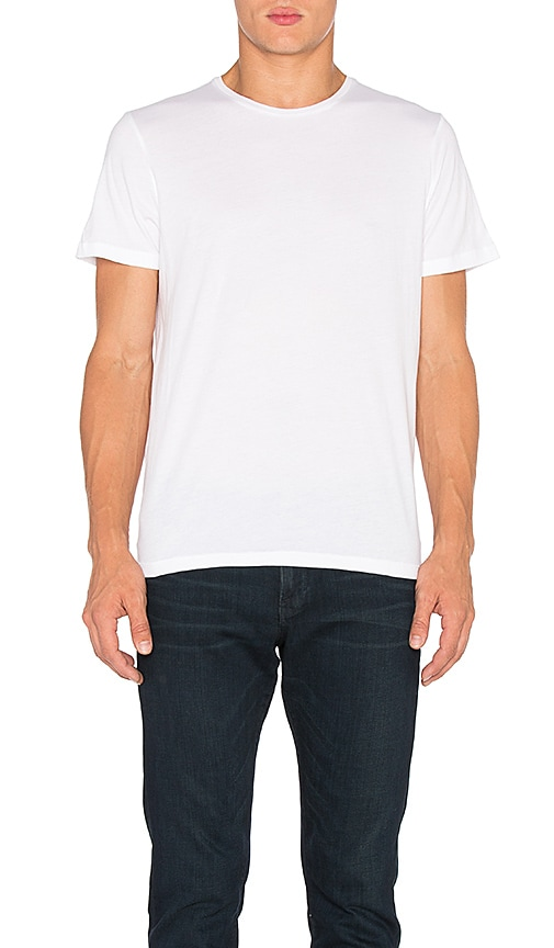 FRAME Denim Classic Crew Neck Tee in White